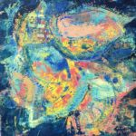 Wax and Oil (blue abstract painting)